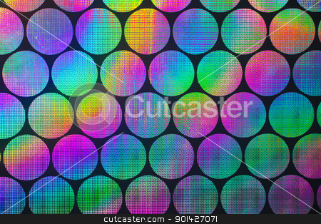 holographic patterns stock photo, Circular holographic patterns of on background by Paul Prescott