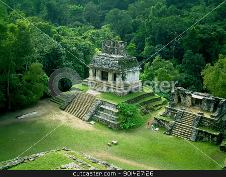 palenque stock photo, a temple in palenque, mexico by Paul Prescott