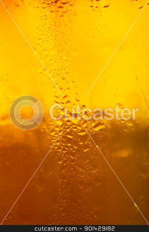 Glass of beer stock photo, Glass of beer close-up with bubbles by sutike