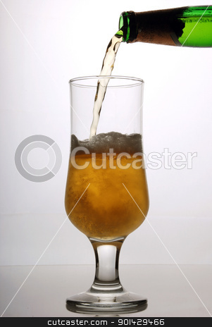 Glass of beer close-up stock photo, Glass of beer close-up by sutike