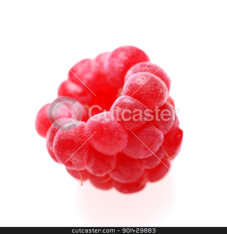 raspberry on white stock photo, raspberry on white background by sutike