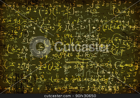 Mathematical background stock photo, Close up of mathematical background by Janaka Dharmasena