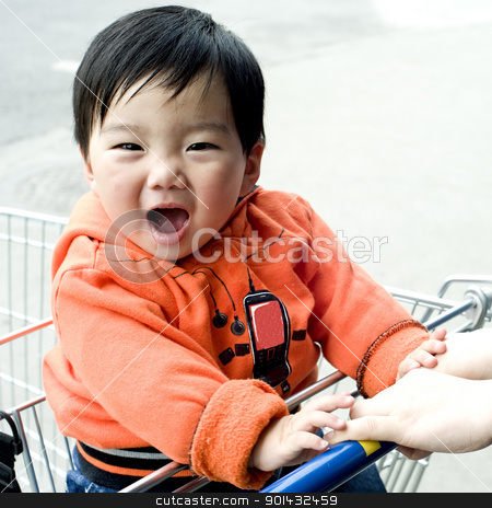 laughed baby  stock photo, laughed baby  by jackq