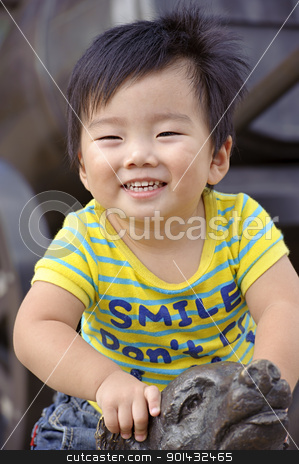 happy baby is playing stock photo, happy baby is playing by jackq