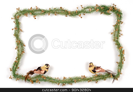 Christmas frame stock photo, Christmas frame with free space for your images or writing. by Homydesign