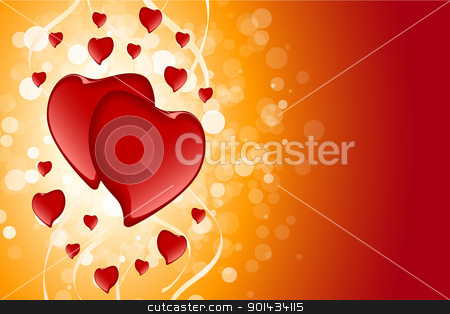 Valentines Day Card Template stock vector clipart, Abstract Valentines Day Card Template with Hearts and sparkle by Vadym Nechyporenko