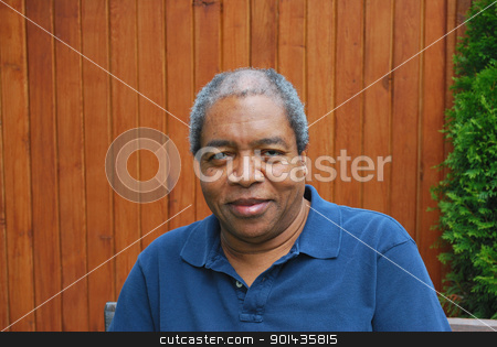 African american male. stock photo, African american male relaxing outside. by OSCAR Williams