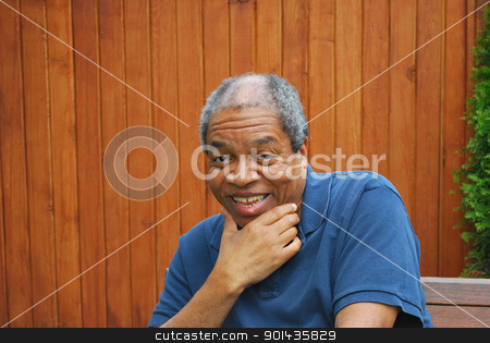 African american male. stock photo, African american male expressions outdoors. by OSCAR Williams
