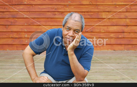 African american male. stock photo, Portrait of an african american male outside. by OSCAR Williams