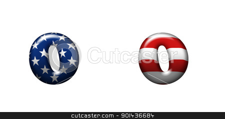 Exclusive collection letters with american stars and stripes  stock photo, Exclusive collection letters with american stars and stripes isolated on white background - 0 by mozzyb