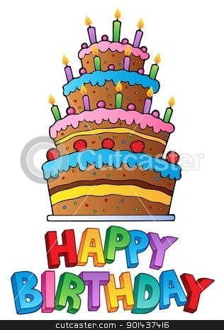 Happy Birthday topic image 2 stock vector clipart, Happy Birthday topic image 2 - vector illustration. by Klara Viskova