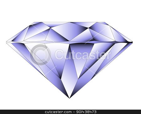 Vector round brilliant cut diamond perspective stock vector clipart, Vector round brilliant cut diamond perspective by mozzyb