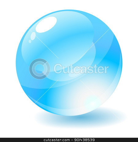 Vector illustration. Blue glossy circle web button. stock vector clipart, Vector illustration. Blue glossy circle web button. by mozzyb