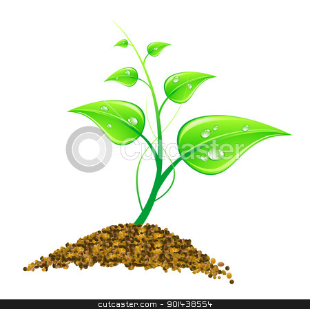Vector illustration environmental concept - green leaves, macro, stock vector clipart, Vector illustration environmental concept - green leaves, macro, isolated on white by mozzyb