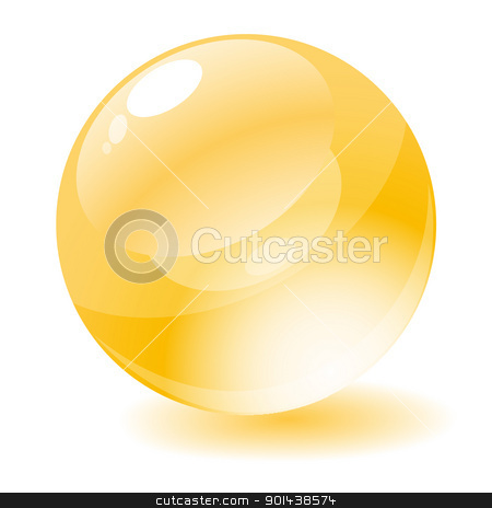 Vector illustration. Yellow glossy circle web button. stock vector clipart, Vector illustration. Yellow glossy circle web button. by mozzyb