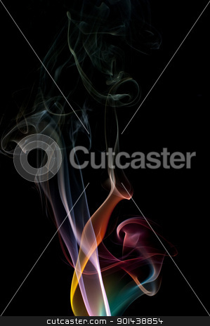 abstract smoke colours stock photo, an attractive abstract background created with smoke by Stephen Gibson