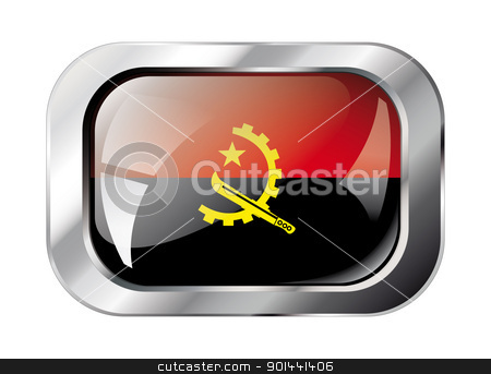 angola shiny button flag vector illustration. Isolated abstract  stock vector clipart, angola shiny button flag vector illustration. Isolated abstract object against white background. by mozzyb