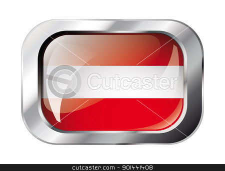 austria shiny button flag vector illustration. Isolated abstract stock vector clipart, austria shiny button flag vector illustration. Isolated abstract object against white background. by mozzyb
