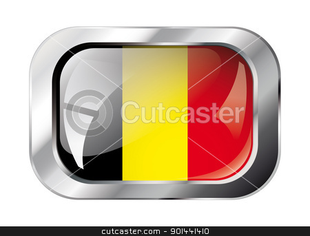 belgium shiny button flag vector illustration. Isolated abstract stock vector clipart, belgium shiny button flag vector illustration. Isolated abstract object against white background. by mozzyb