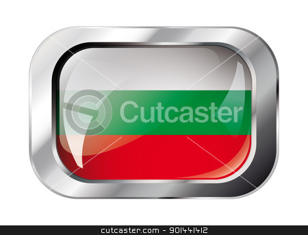 bulgaria shiny button flag vector illustration. Isolated abstrac stock vector clipart, bulgaria shiny button flag vector illustration. Isolated abstract object against white background. by mozzyb