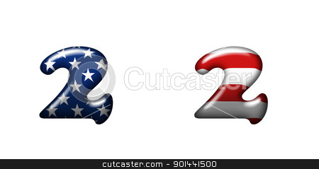 Exclusive collection letters with american stars and stripes  stock photo, Exclusive collection letters with american stars and stripes isolated on white background - 2 by mozzyb