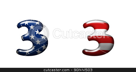 Exclusive collection letters with american stars and stripes  stock photo, Exclusive collection letters with american stars and stripes isolated on white background - 3 by mozzyb