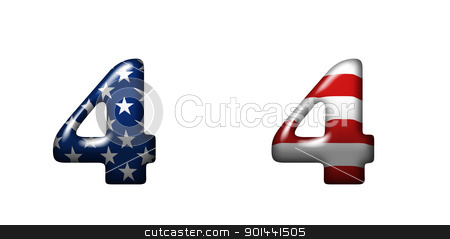 Exclusive collection letters with american stars and stripes  stock photo, Exclusive collection letters with american stars and stripes isolated on white background - 4 by mozzyb