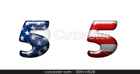 Exclusive collection letters with american stars and stripes  stock photo, Exclusive collection letters with american stars and stripes isolated on white background - 5 by mozzyb