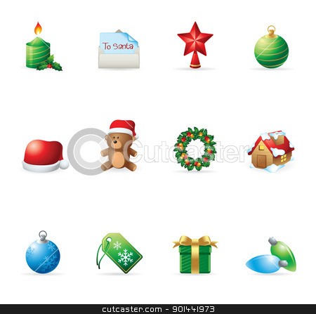 Web Icons - More Christmas stock vector clipart, More Christmas icons. Fully editable EPS file format. by puruan