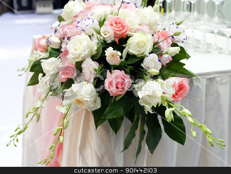 beautiful rose flower on the wedding. stock photo, rose flower on the wedding. by jackq