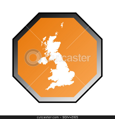 England or United Kingdom sign stock photo, England or United Kingdom road sign isolated on a white background. by Martin Crowdy