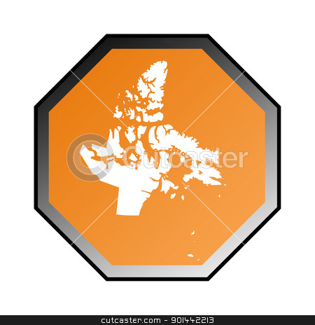 Nunavut road sign stock photo, Canadian state of Nunavut road sign isolated on a white background. by Martin Crowdy