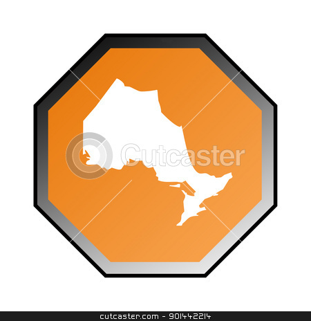 Ontario road sign stock photo, Canadian state of Ontario road sign isolated on a white background. by Martin Crowdy
