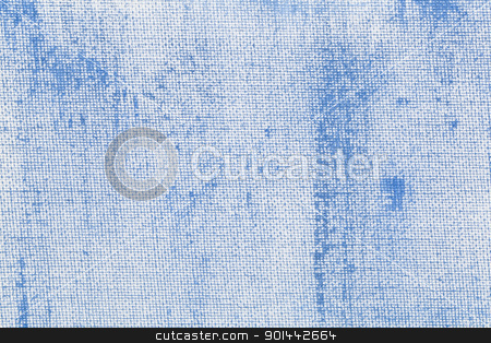 blue abstract with camvas texture stock photo, light blue coarse texture painted on white artist canvas by Marek Uliasz