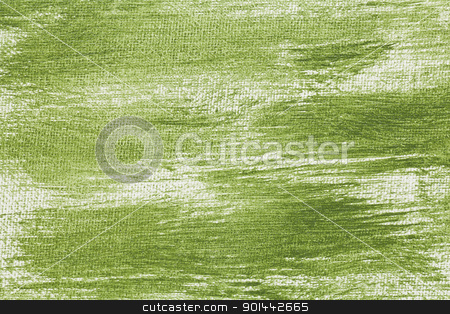 green abstract with camvas texture stock photo, green and white abstract texture painted on artist canvas by Marek Uliasz