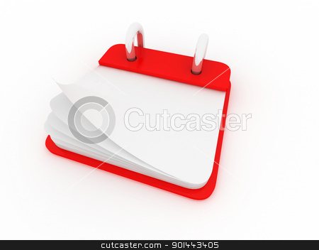 illustration of a desk calendar showing a blank page stock photo, illustration of a desk calendar showing a blank page by dacasdo