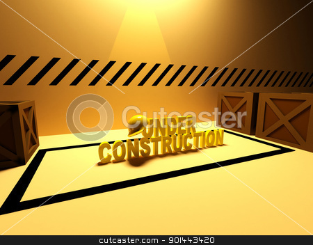 under construction sign 3d illustration stock photo, under construction sign 3d illustration by dacasdo