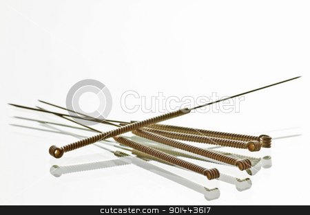 acupuncture needles stock photo, Acupuncture needles by Hans-Joachim Schneider