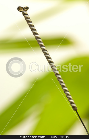acupuncture needle stock photo, Acupuncture needle by Hans-Joachim Schneider