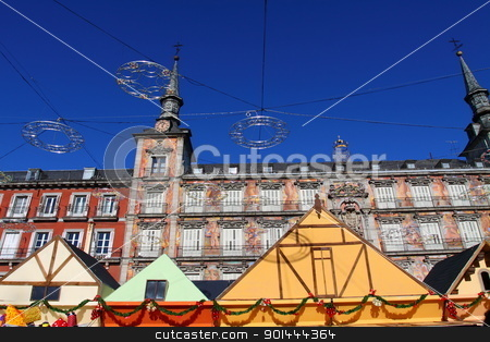 Christmas time on Palza Mayor, Madrid, Spain.  stock photo, Christmas time on Palza Mayor, Madrid, Spain.  by Mariusz Prusaczyk