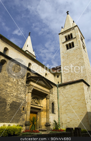 Church Architecture in Prague stock photo, Historic church architecture in Prague, Czech Republic by Rognar