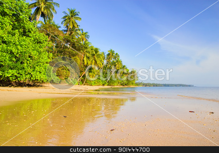 Tropical Island stock photo, Remote tropical island beach scenery in Thailand by Rognar