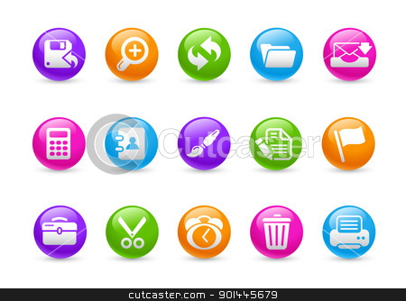 Interface // Rainbow Series  stock vector clipart, Professional icons for your website or presentation. -eps8 file format- by Diego Alies