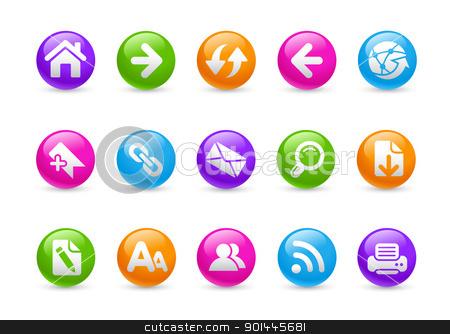 Web Navigation // Rainbow Series stock vector clipart, Professional icons for your website or presentation. -eps8 file format- by Diego Alies