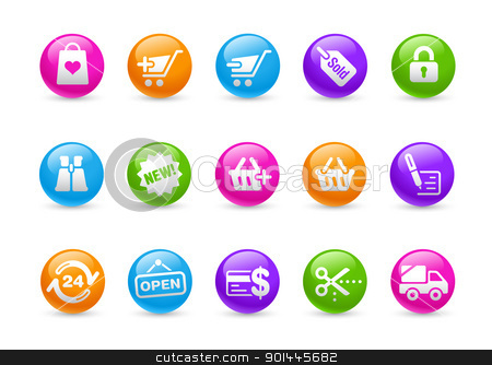 Shopping // Rainbow Series  stock vector clipart, Professional icons for your website or presentation. -eps8 file format- by Diego Alies