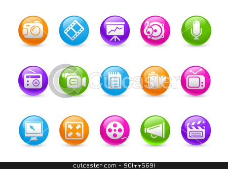 Multimedia // Rainbow Series  stock vector clipart, Professional icons for your website or presentation. -eps8 file format- by Diego Alies
