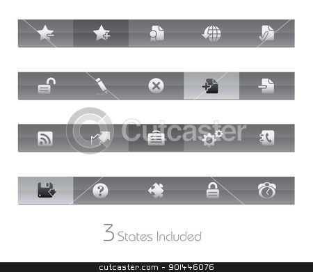 Web Site & Internet Plus // Gelbar Series stock vector clipart, +++ The vector file includes 3 buttons states in different layers. +++  by Diego Alies