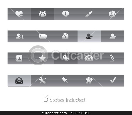 Internet & Blog // Gelbar Series stock vector clipart, +++ The vector file includes 3 buttons states in different layers. +++  by Diego Alies