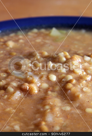 Lentil Soup stock photo, A bowl of lentil soup.  by Chris Hill