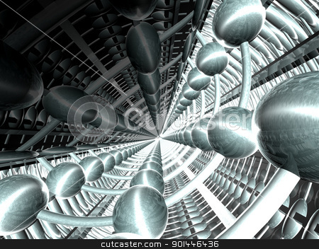 Hypertunnel stock photo, 3D rendered Illustration. Abstract Image. by Michael Osterrieder